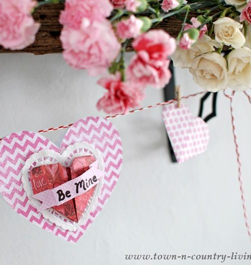 Paper Valentine Hearts by Town and Country Living