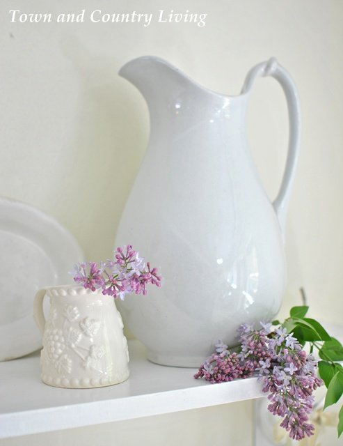Collecting White Ironstone via Town and Country Living