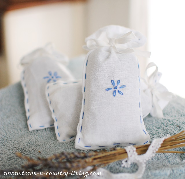 How to make lavender dryer sachets by Town and Country Living