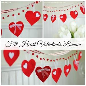 Felt Heart Valentine's Banner