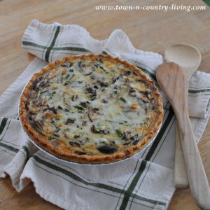 Mushroom Asparagus Fontina Quiche Recipe