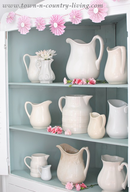 White Ironstone Pitcher Collection