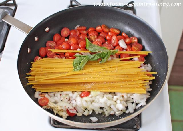 One Pan Linguine Recipe