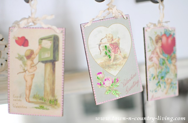 Vintage Valentine's via Town and Country Living