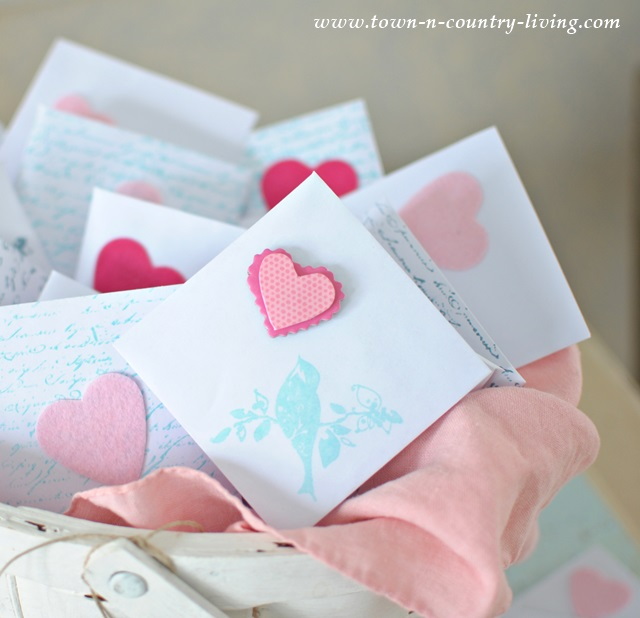 Handmade Valentine's Day Cards and Envelopes