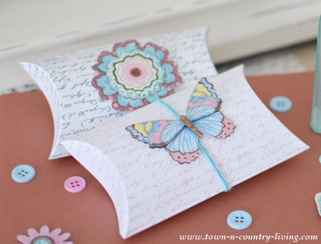 Paper Butterfly on a Gift Card Holder