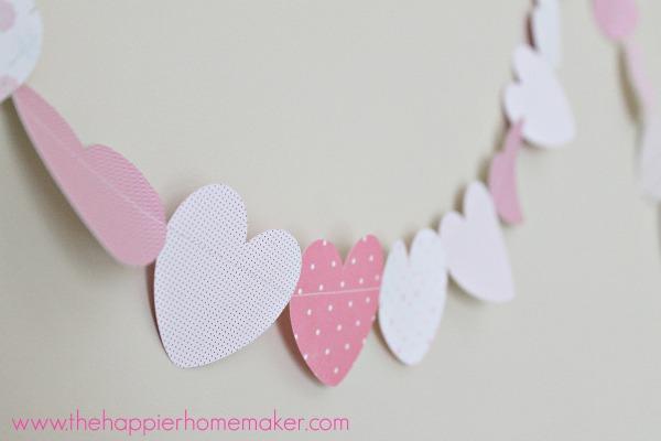 Happier Homemaker Paper Heart Garland