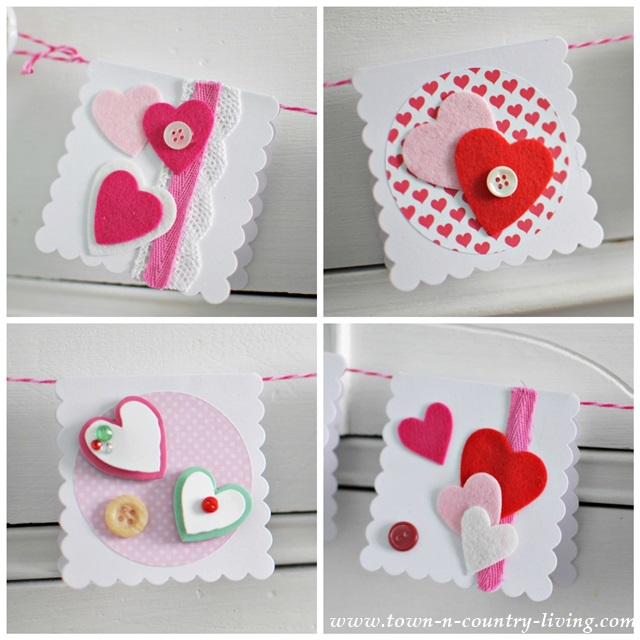 Homemade Valentine\'s Day Cards - Town & Country Living