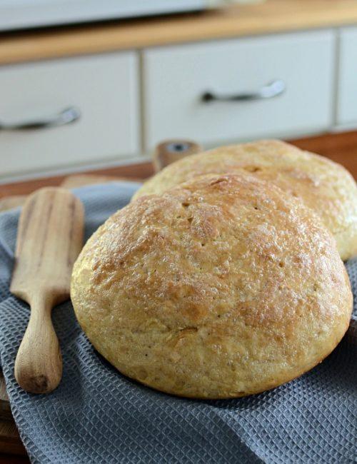 Homemade No Knead Peasant Bread