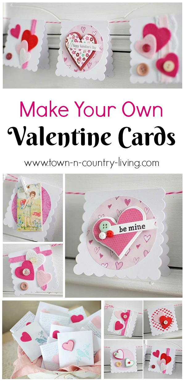 Homemade Valentines Day Cards Town Country Living – How to Make Valentines Cards