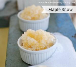 Maple Snow Recipe