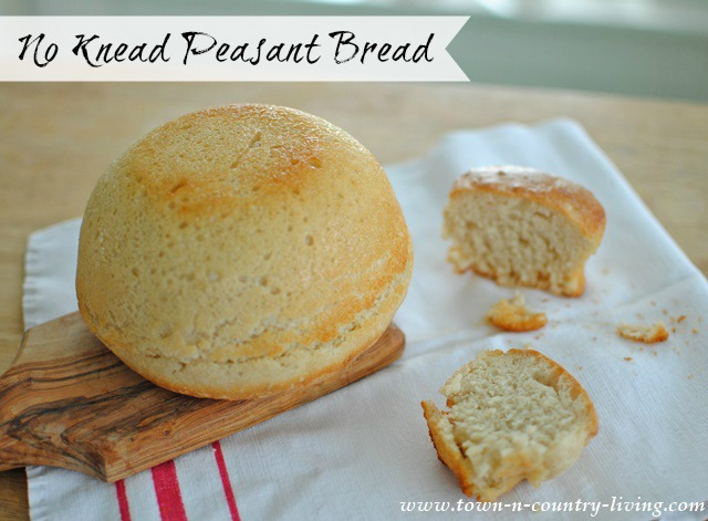 No Knead Peasant Bread Recipe