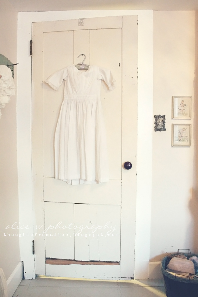 Old Farmhouse Door in Baby Nursery - Thoughts from Alice