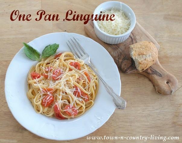 One Pan Linguine Pasta Recipe