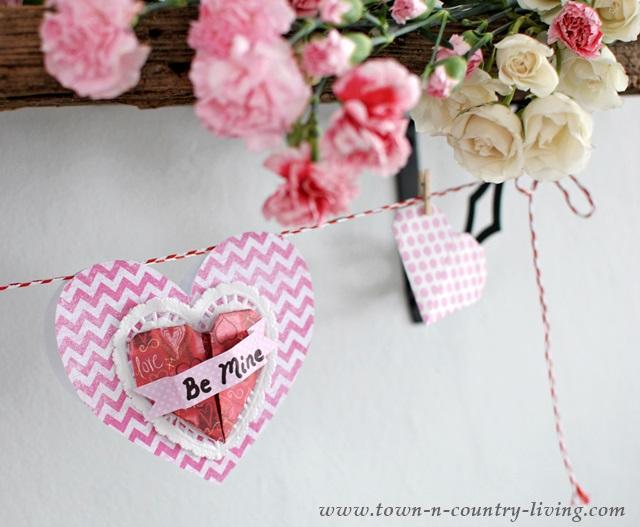 DIY Paper Heart Garland