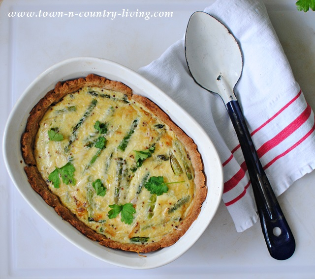 Recipe for Asparagus and Spring Onion Tart