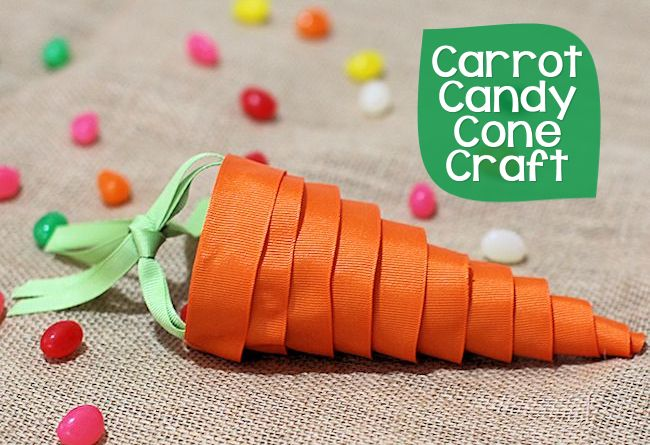 candy carrot cone craft via about family crafts