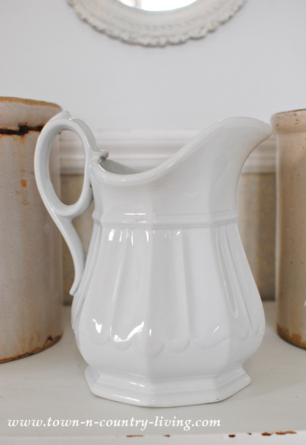 Wedgewood white ironstone pitcher