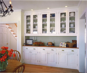 Farmhouse Kitchen with Painted Bead Board