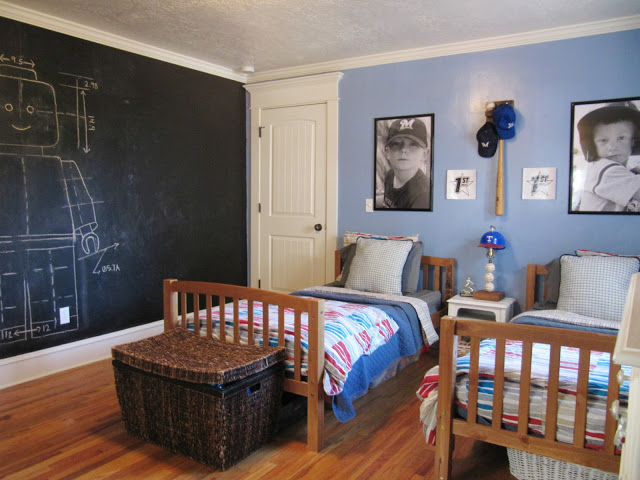 Boys Bedroom with Chalkboard Wall