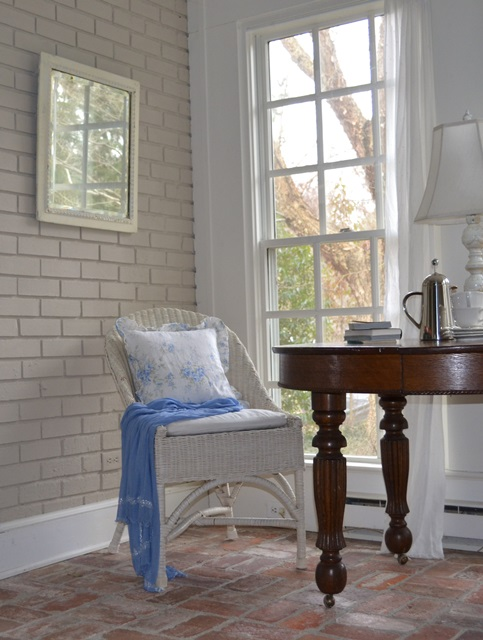 Cottage Sun Room with Vintage Wicker