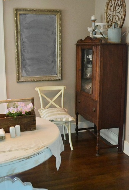 Vintage dining hutch at the Cottage Fix