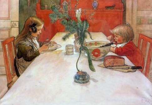 Evening Meal Painting by Carl Larsson