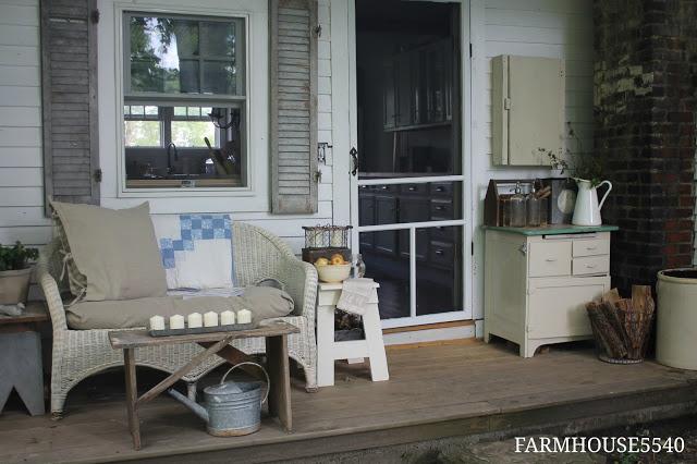Farmhouse Porch with Screen Door
