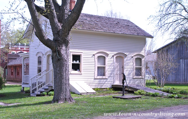 Historic Home at Midway Village in Rockford, Illinois