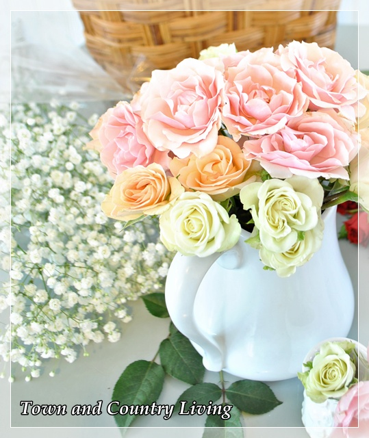 Decorating with pink flowers town country living decorating with pink flowers mightylinksfo