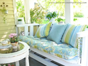 How to Quickly Update a Porch Glider ~ Inspire Me Challenge