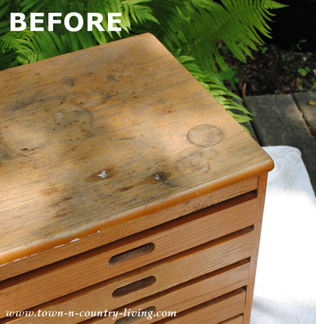 Before a roadside rescue game table gets a makeover