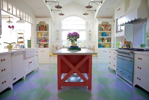Cottage Style Painted Floors