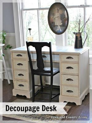 Decoupage Desk Makeover