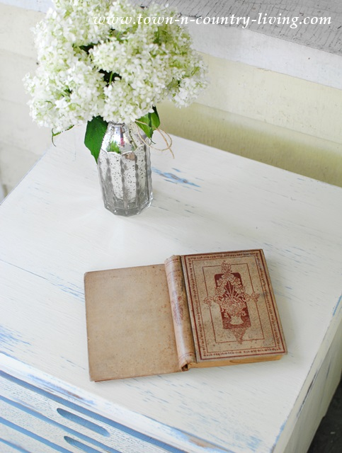 Distressed furniture painted in Annie Sloan Chalk Paint - Old White