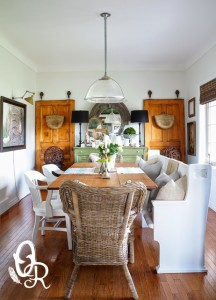 Innovative eclectic dining room