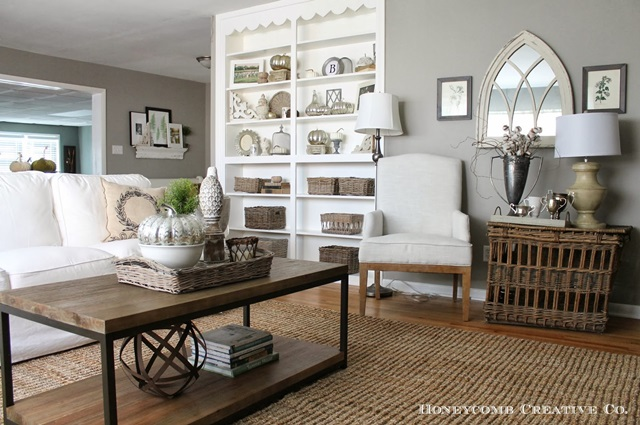 Charming elegant home tour honeycomb creative co town for Elegant farmhouse living room