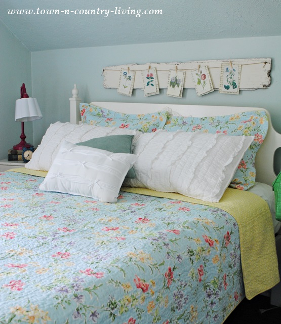 Laura Ashley Quilt on Cottage Bed