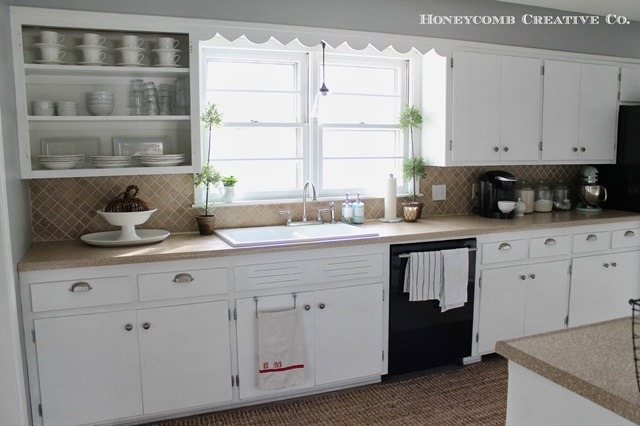 Painted Cabinets in Cottage Kitchen