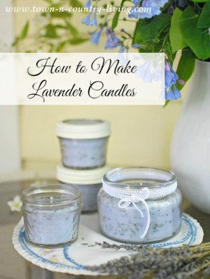 How to make lavender candles using glass jars