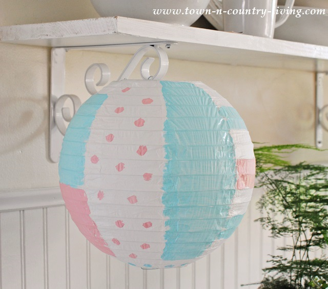 Transform plain paper lanterns with acrylic paints in just a few minutes.