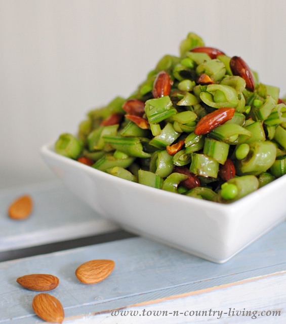 This Sugar Snap Pea Salad with Almonds is very tasty, and good for you ...