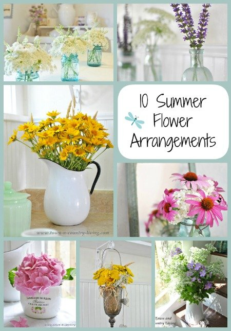 10 Summer Fresh Flower Arrangements