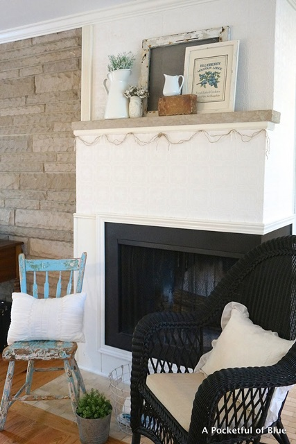 Corner Summer Style Fireplace