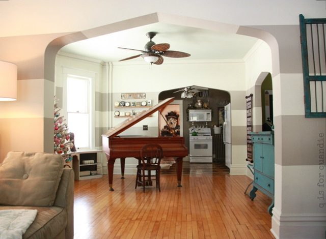 Beautiful piano room with stunning hardwood floors
