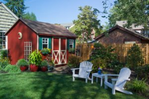 Red Cottage Style Garden Shed