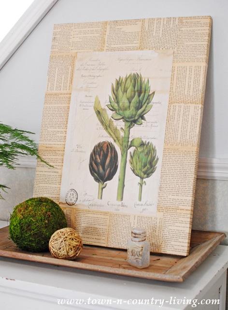 DIY Artichoke Botanic Print Wall Art