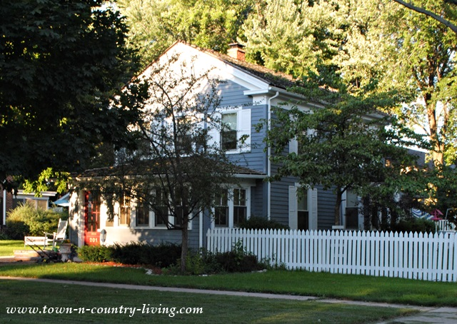 Blue Historic Home in Geneva Illinois