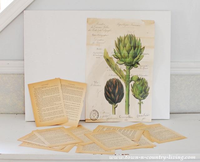 Craft Supplies for DIY Botanic Art Project