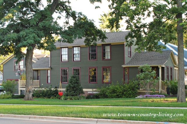 Green Clapboard House in Historic Geneva Illinois
